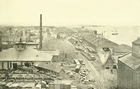 21 Michigan central railroad yard about 1868