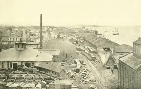 21 Michigan central railroad yard about 1868
